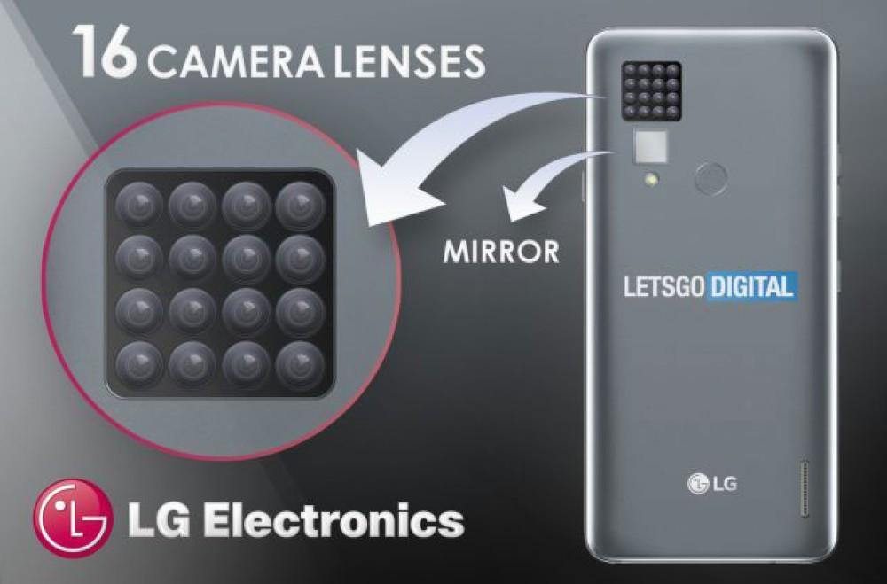 Η LG κατοχύρωσε πατέντα για smartphone με 16 αισθητήρες κάμερας στο πίσω μέρος