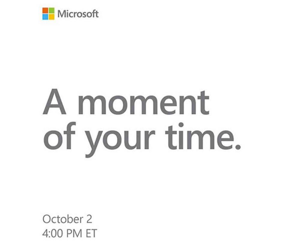 Microsoft Event στις 2 Οκτωβρίου, πιθανότατα για τα νέα Surface laptops