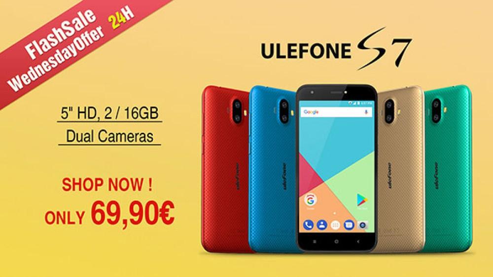 Ulefone S7: Μόνο για σήμερα διαθέσιμο στα €69.99 από ελληνικό κατάστημα