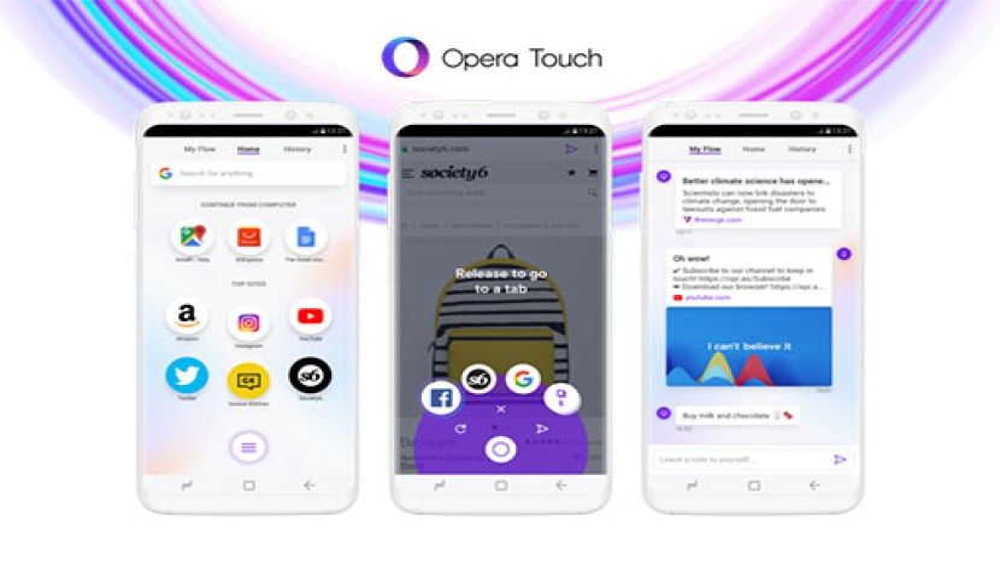 Opera Touch: Νέος mobile web browser με έμφαση στη χρήση με ένα χέρι και άμεση επικοινωνία με την desktop έκδοση [Videos]