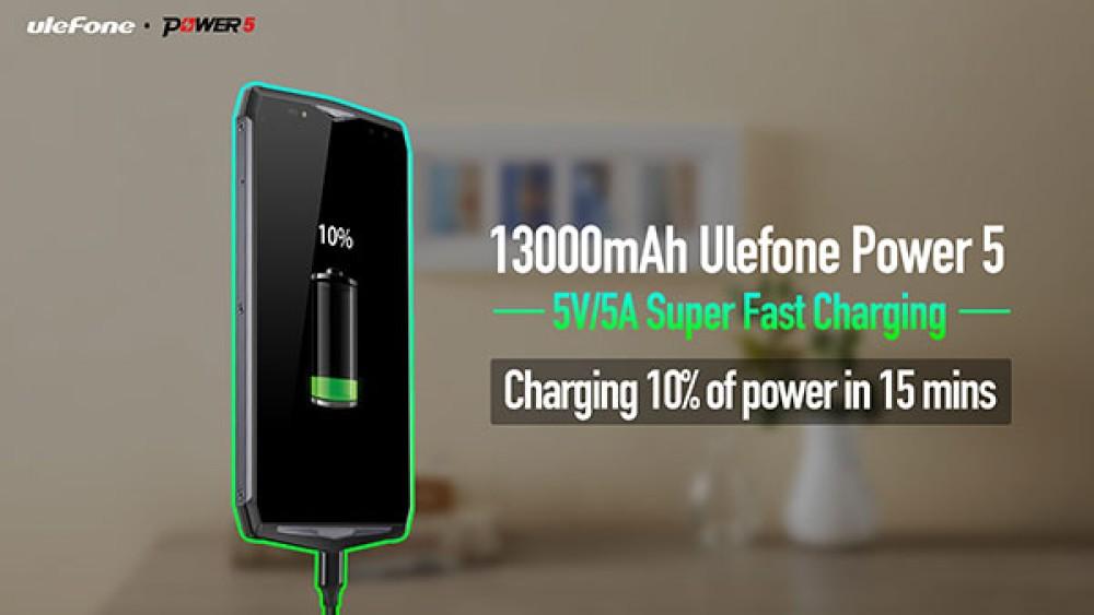 Ulefone Power 5: Δείτε πόσο γρήγορα φορτίζει η μπαταρία των 13000mAh σε πραγματική δοκιμή [Video]