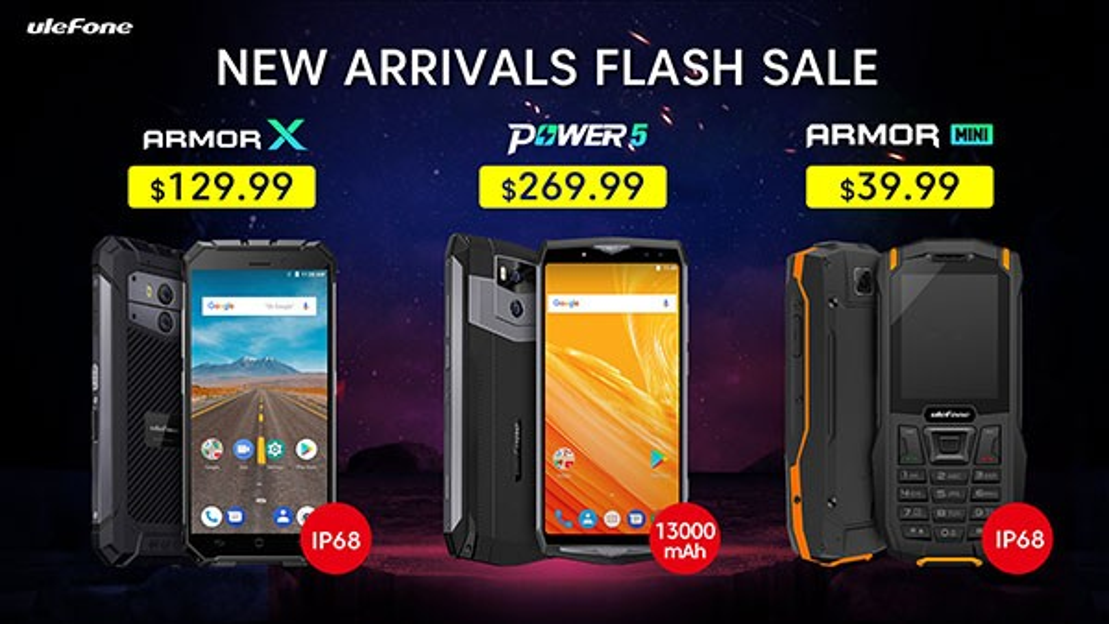 Ulefone Power 5, Armor X και Armor Mini στις καλύτερες τιμές της αγοράς