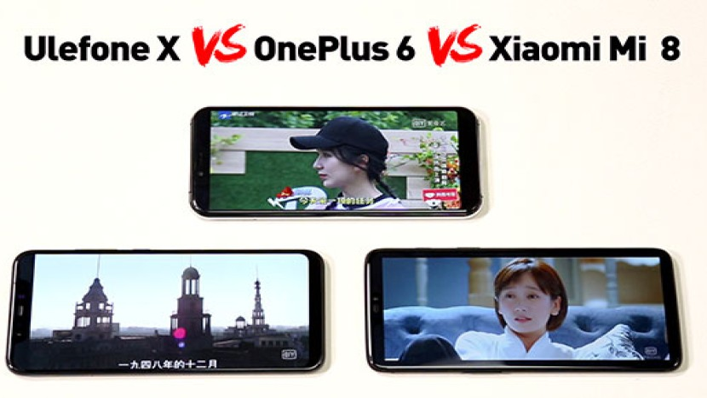 Ulefone X: Συγκριτικό video απέναντι τα OnePlus 6 και Xiaomi Mi 8