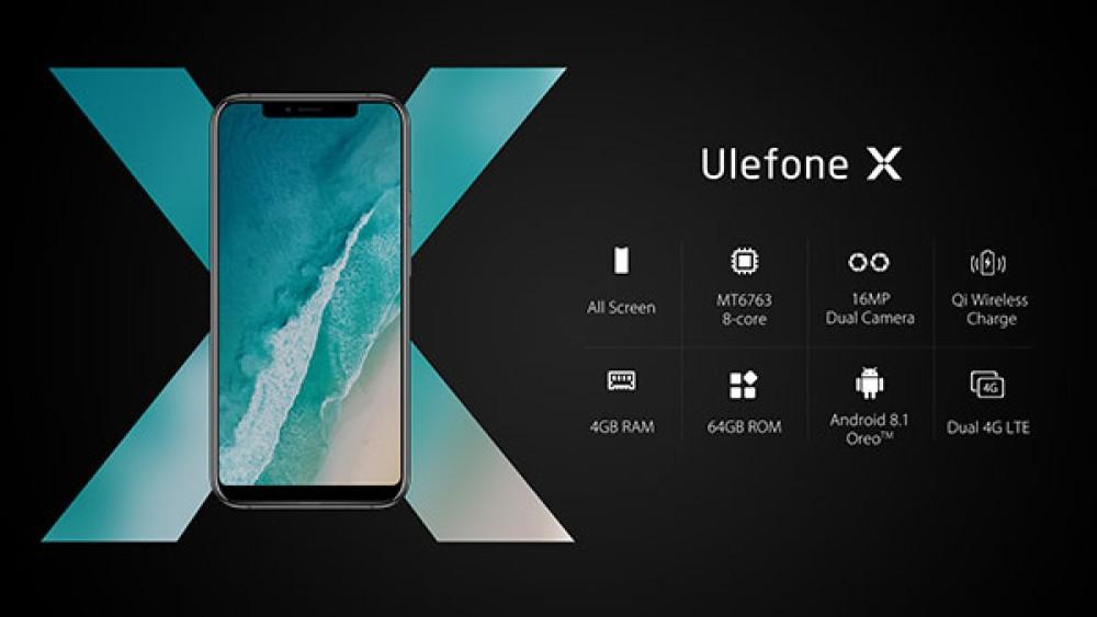 Ulefone X: Έρχεται με οθόνη 5.85'' και notch σαν του iPhone X [Video]
