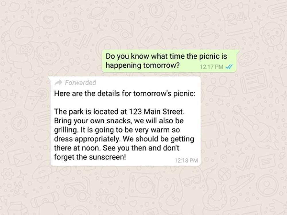 WhatsApp: Επίσημη η λειτουργία ενημέρωσης για τα προωθημένα μηνύματα από άλλους χρήστες