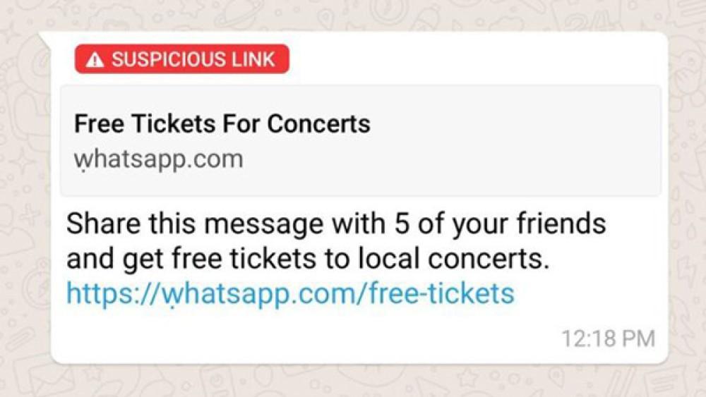 WhatsApp: Ενημερώνει και για πιθανά κακόβουλα links που περιέχονται σε προωθημένα μηνύματα