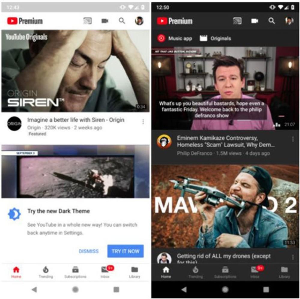 YouTube Dark Theme: Διατίθεται πλέον για όλους τους χρήστες Android