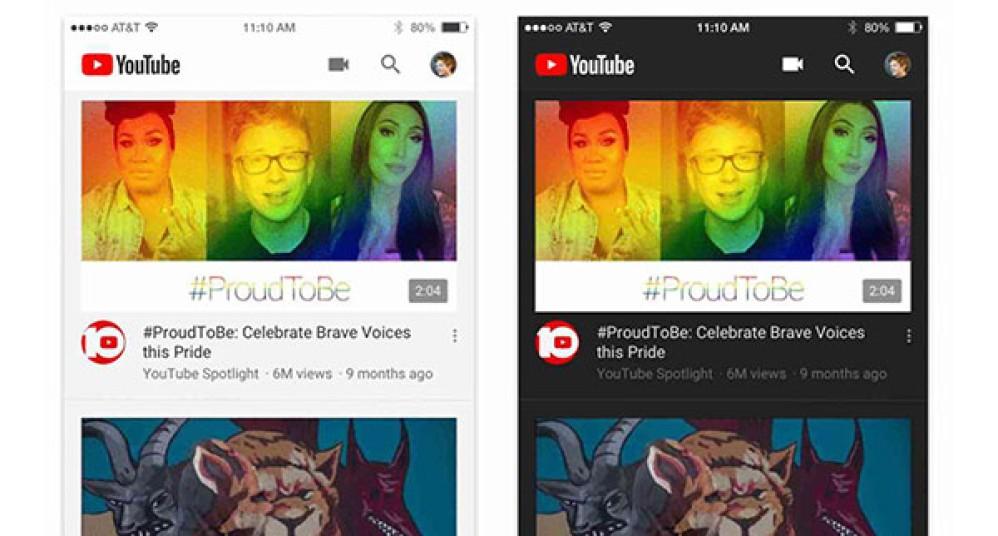YouTube: Διαθέσιμο το Dark Mode στην εφαρμογή για συσκευές iOS, σύντομα και στο Android