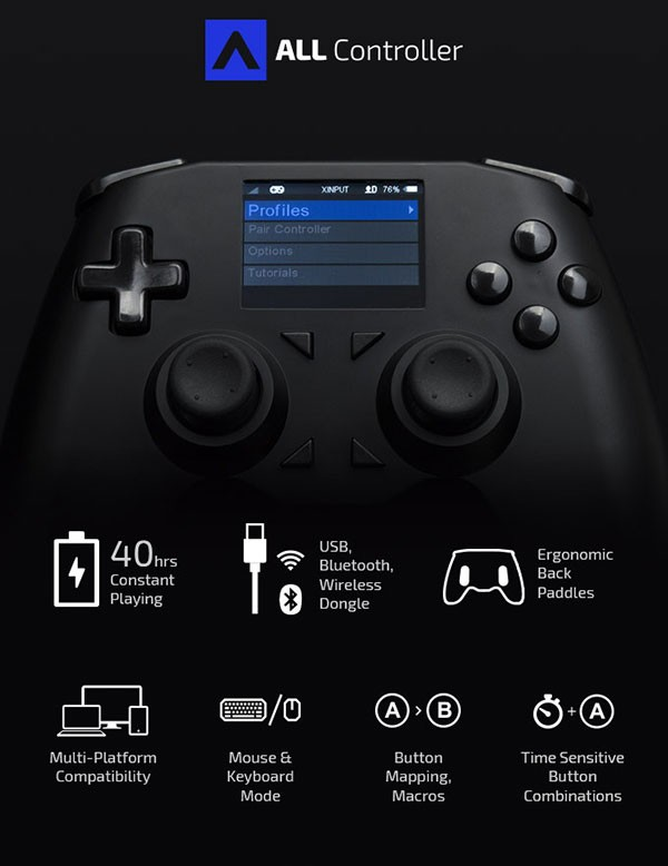 All Controller: Ένα τηλεχειριστήριο συμβατό με όλες τις παιχνιδοκονσόλες, iOS, Android και TV boxes [Video]