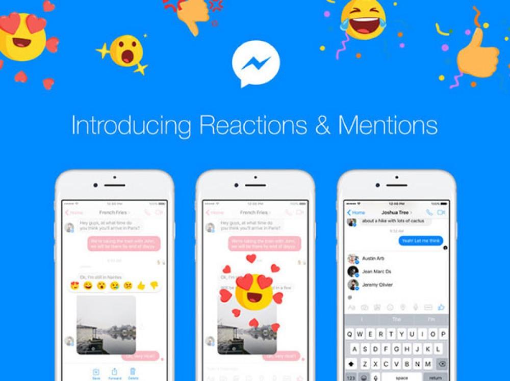 Διαθέσιμα τα Reactions και τα Mentions στα μηνύματα του Facebook Messenger