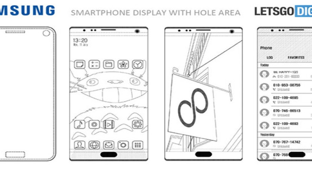 """Πατέντα της Samsung """"κρύβει"""" όλους τους αισθητήρες κάτω από την οθόνη για 100% bezel-less smartphone"""