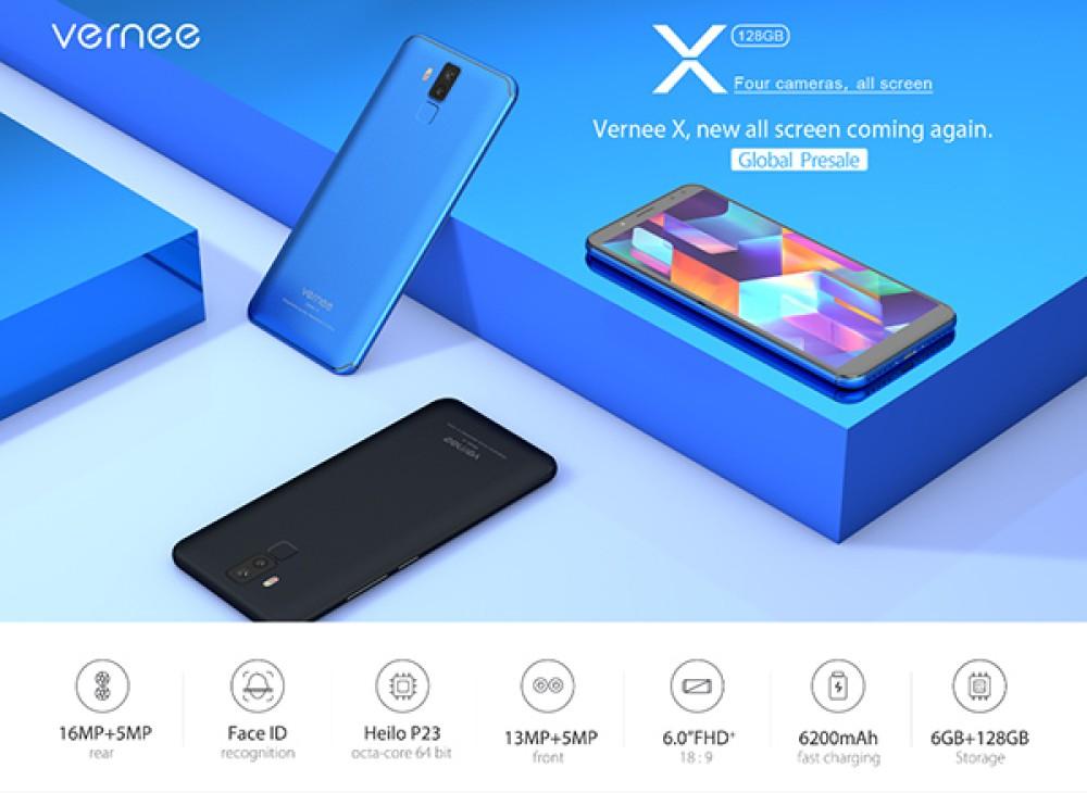 Vernee X: Το bezel-less smartphone με 4 κάμερες και μπαταρία 6200mAh θα αναβαθμιστεί σε Android 8.0 Oreo [Video]