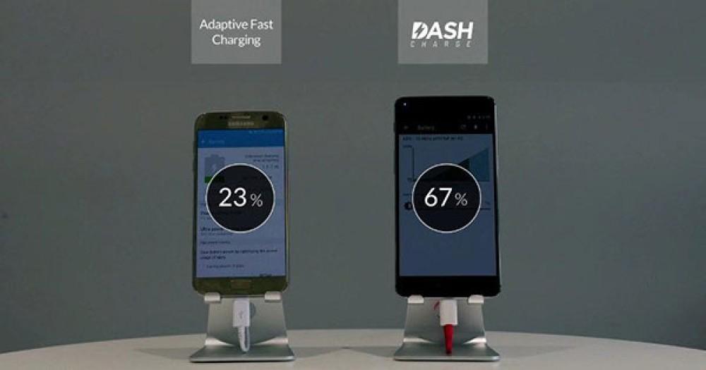 """Η τεχνολογία φόρτισης DASH Charge του OnePlus 3 """"πατάει"""" αυτήν του Samsung Galaxy S7 [Video]"""
