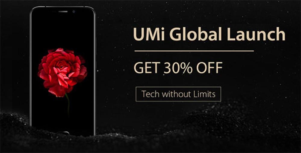Παγκόσμιο λανσάρισμα της UMi με έκπτωση 30% σε όλα τα smartphones της