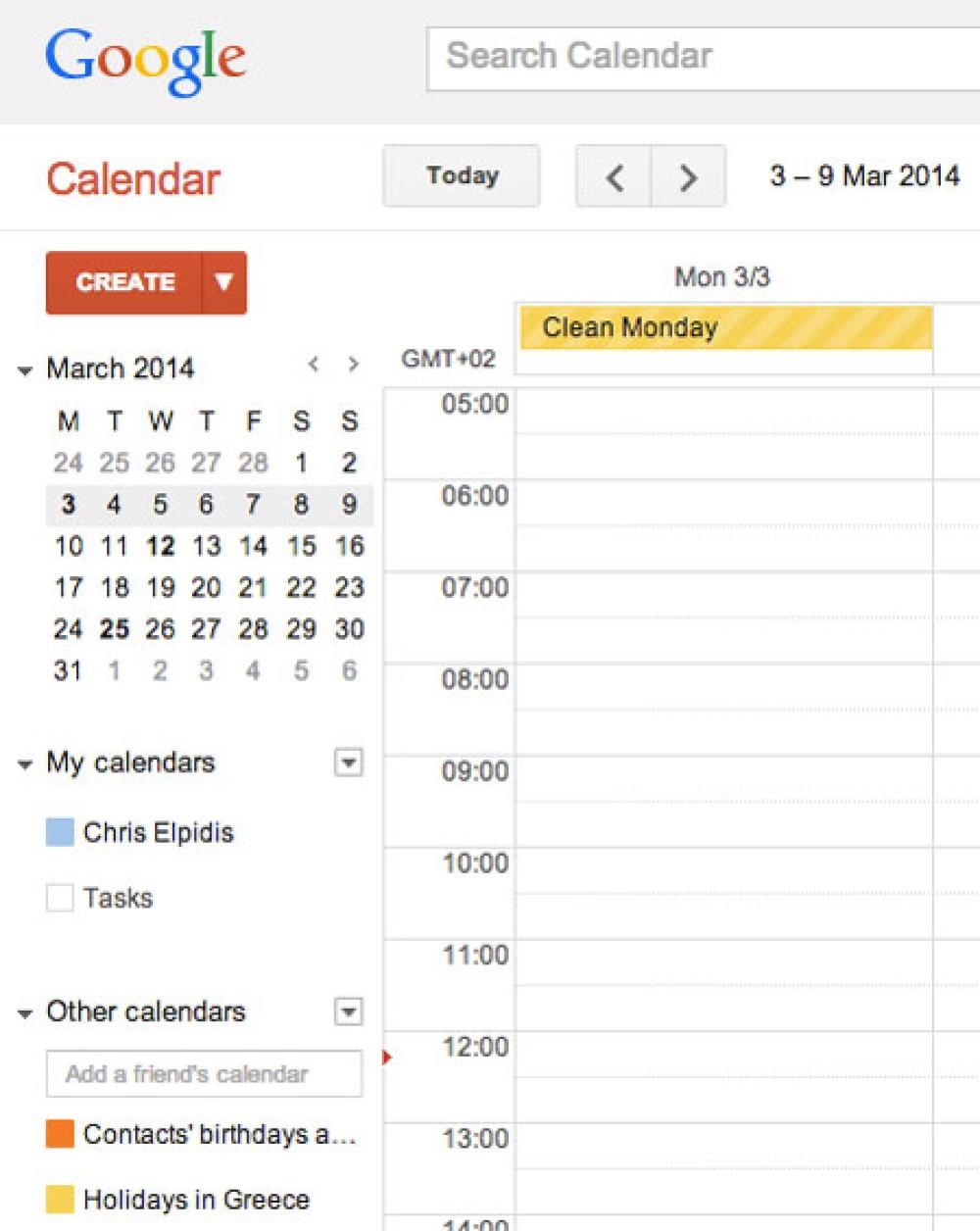 Η Google πρόσθεσε τις Ελληνικές εθνικές εορτές και αργίες στην υπηρεσία Calendar