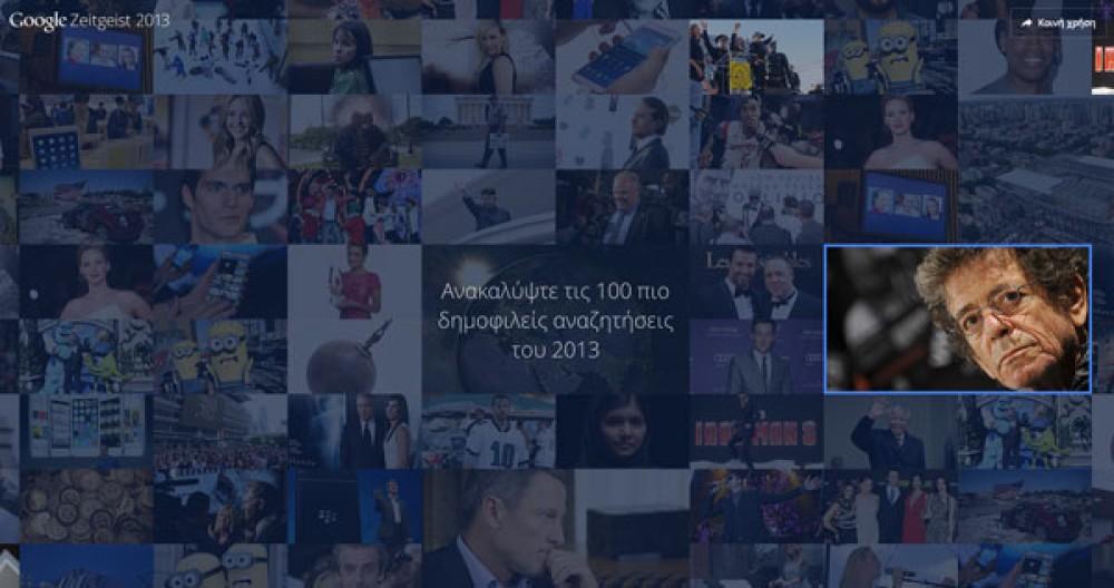 Google Zeitgeist 2013: Οι δημοφιλέστερες αναζητήσεις ανά κατηγορία για το 2013 [Video]