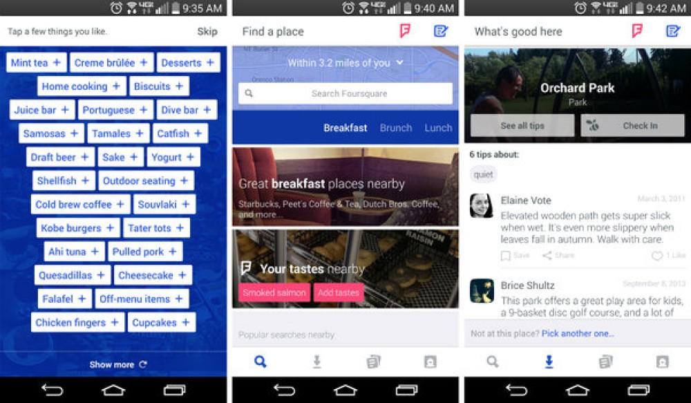 Foursquare: Μεγάλη αναβάθμιση με νέα εμφάνιση και προσωπικές προτάσεις [Video]