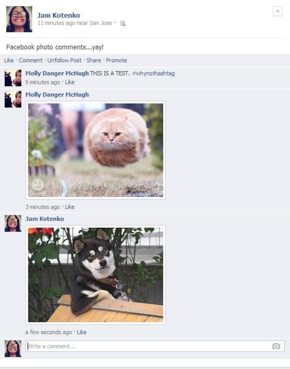 Νέα λειτουργία προσθήκης φωτογραφιών στα σχόλια του Facebook