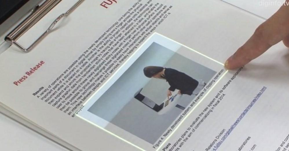 Εντυπωσιακό concept από τη Fujitsu για τη μετατροπή ενός φύλλου χαρτιού σε...οθόνη αφής! [Video]