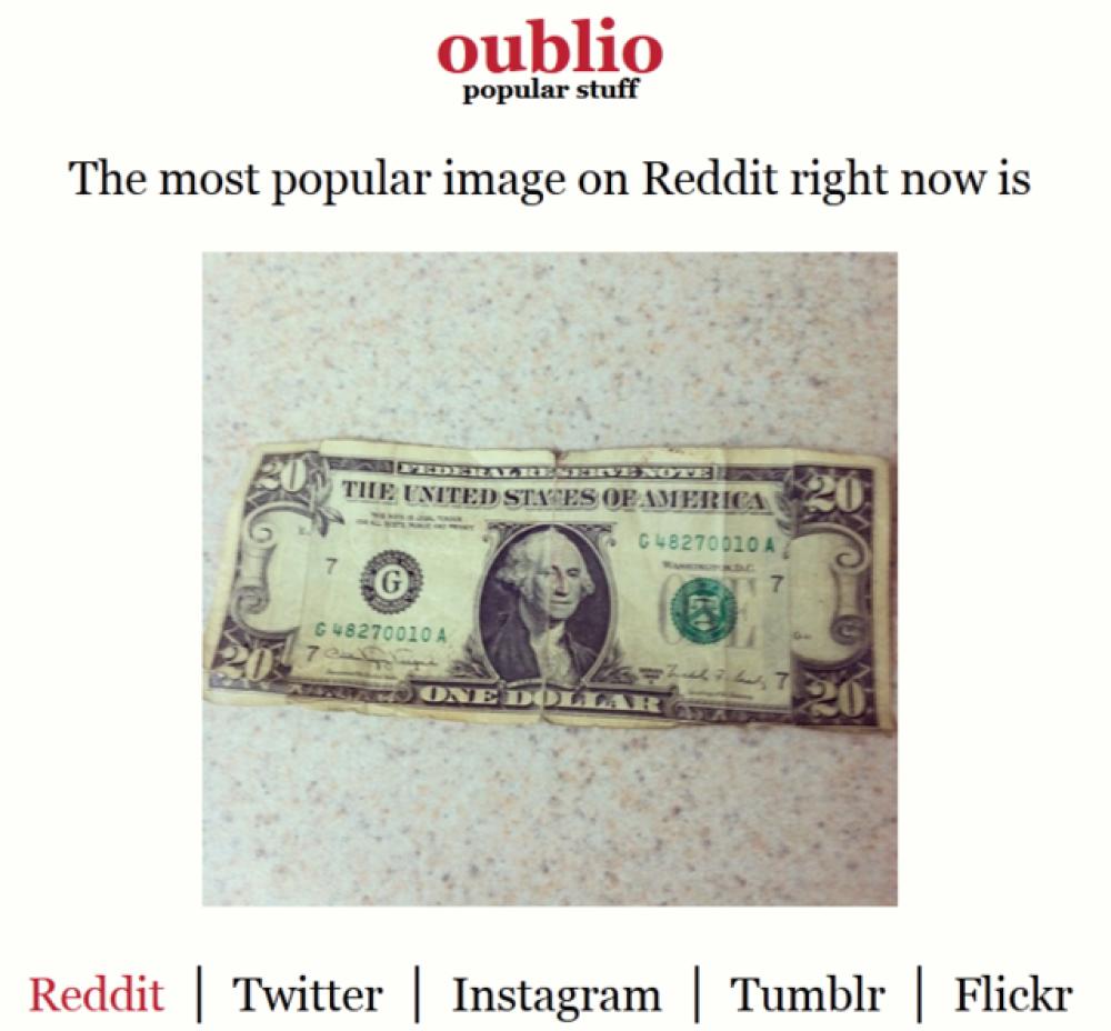 Oublio, για να βλέπεις τα δημοφιλέστερα στα Twitter, Instagram, Tumblr και Reddit