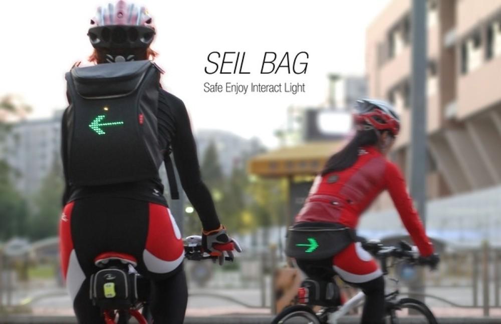 SEIL Bag: Νέα τσάντα για ποδηλάτες με ενσωματωμένο φλας [Video]