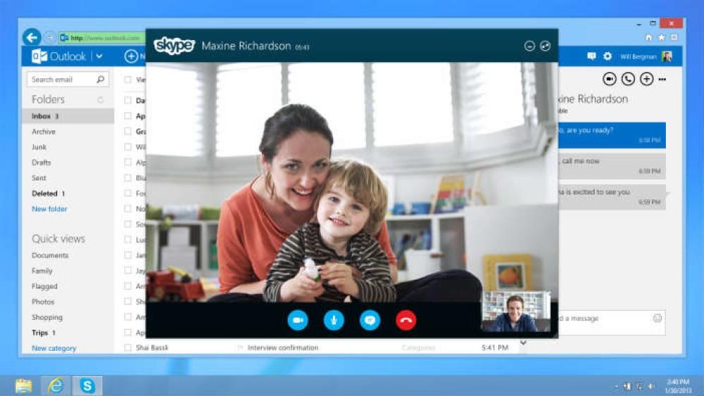 Προσεχώς κλήσεις Skype απευθείας από το Outlook.com