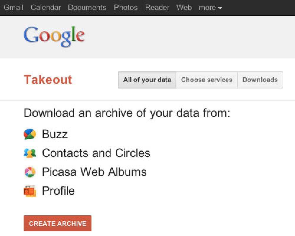 Google Takeout, η υπηρεσία της Google για να απομακρύνετε τα δεδομένα σας από το cloud!