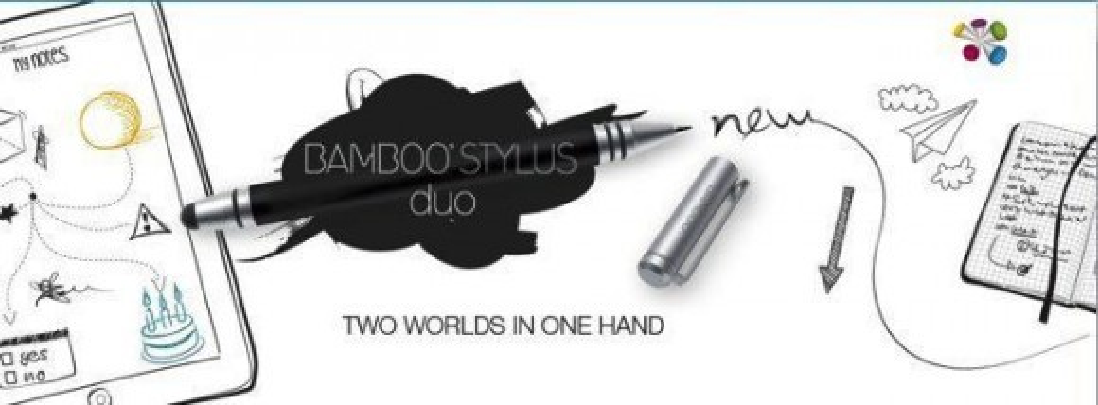 Wacom Bamboo Stylus Duo, γραφίδα διπλής χρήσης για tablet και χαρτί